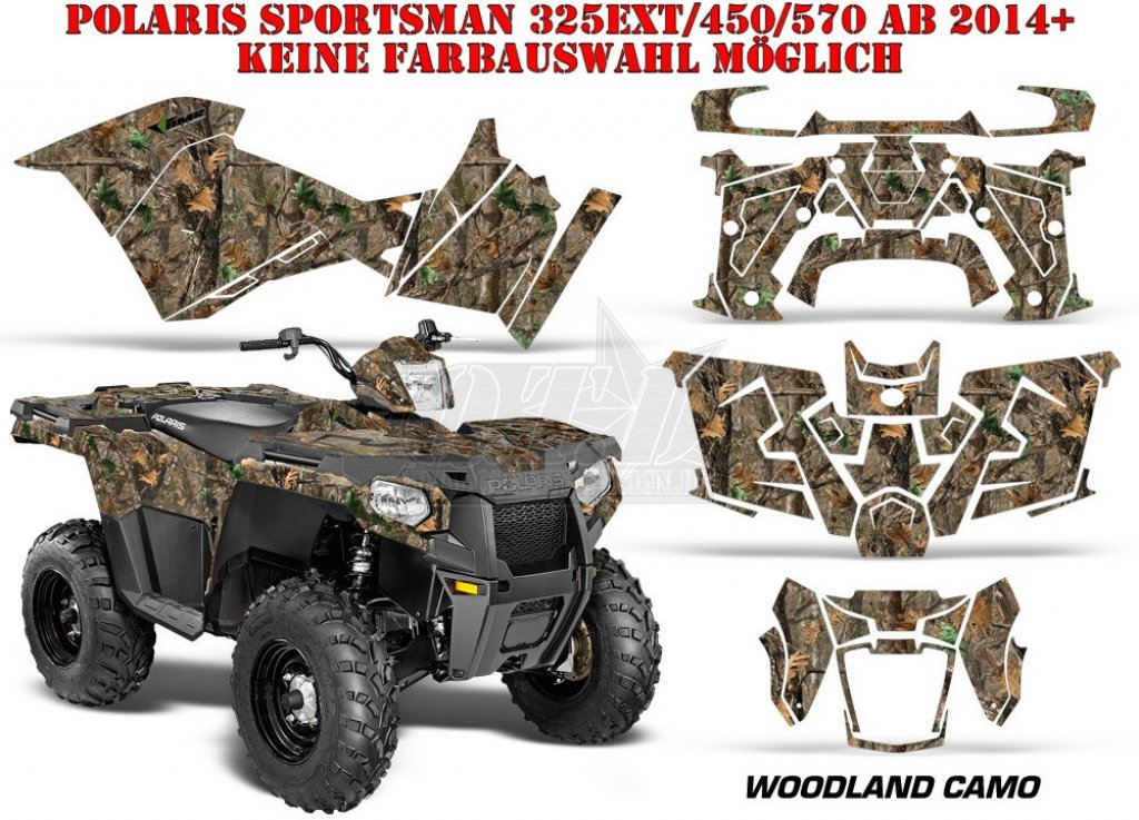 Sonderpreis Woodland Camo für Polaris Sportsman 325EXT/450/570